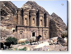 Petra Architecture Acrylic Print by John Miles