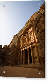 Petra Treasury At Morning Acrylic Print by Universal Stopping Point Photography