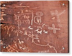Petroglyph Canyon - Valley Of Fire Acrylic Print by Christine Till