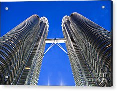 Petronas Tower Bridge Detail Acrylic Print by Gualtiero Boffi