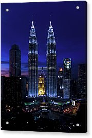 Petronas Towers In Kl Malaysia At Twilight. Acrylic Print