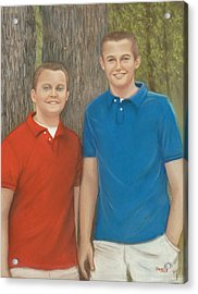 Peyton And Banner Acrylic Print by Pat Neely