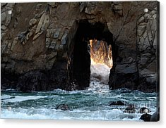 Pfeiffer Rock Big Sur Acrylic Print by Bob Christopher