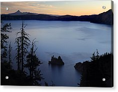 Phantom Ship Sunrise At Crater Lake Acrylic Print by Pierre Leclerc Photography