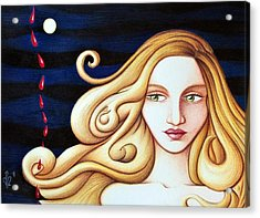 Acrylic Print featuring the drawing Phase by Danielle R T Haney