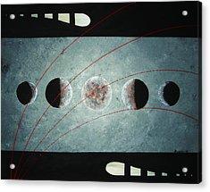 Phases Acrylic Print by Edwin Alverio