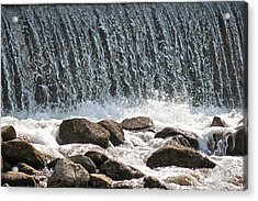 Acrylic Print featuring the photograph Phelps Mill Dam by Penny Meyers