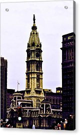 Philadelphia City Hall Tower Acrylic Print by Bill Cannon