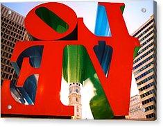 Philadelphia Acrylic Print by Claude Taylor
