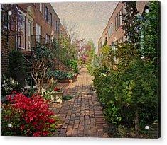 Philadelphia Courtyard - Symphony Of Springtime Gardens Acrylic Print by Mother Nature