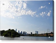 Philadelphia From Kelly Drive Acrylic Print by Bill Cannon