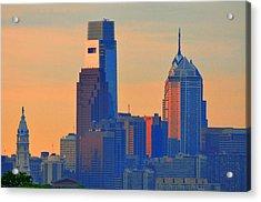 Philadelphia Sunrise Acrylic Print by Bill Cannon