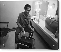 Philip Wilson Drums For Butterfield Blues Band Fillmore East 1968 Acrylic Print by Jan W Faul