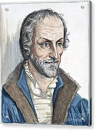 Philipp Melanchthon (1497-1560). German Scholar And Religious Reformer: Line Engraving, German, 19th Century Acrylic Print by Granger