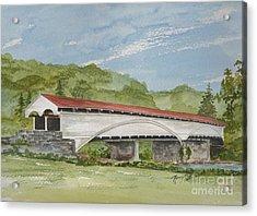 Philippi Covered Bridge  Acrylic Print by Nancy Patterson