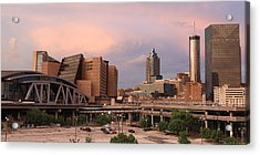 Philips Arena Wide  Acrylic Print by Alberto Filho