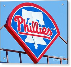 Phillies Logo Acrylic Print by Carol Christopher