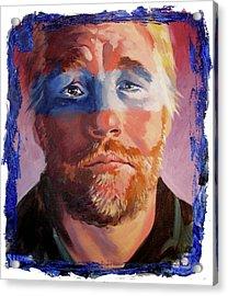 Phillip Seymour Hoffman Acrylic Print by Ken Meyer jr