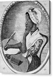 Phillis Wheatley 1753-1784, The First Acrylic Print by Everett