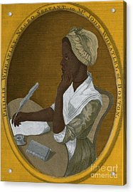 Phillis Wheatley, African-american Poet Acrylic Print by Photo Researchers