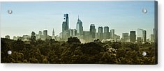 Philly Panorama Acrylic Print by Bill Cannon