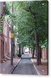 Philly Street Acrylic Print by Fredrik Ryden