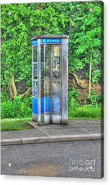 Phone Booth At Eden Park Acrylic Print
