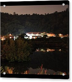 Photo Taken At Night For A Mansion By Acrylic Print