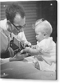 Photogenic Baby Acrylic Print by George Konig