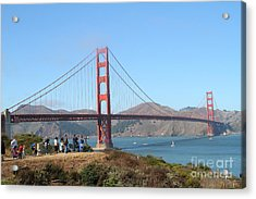 Photographing The San Francisco Golden Gate Bridge . 7d7787 Acrylic Print by Wingsdomain Art and Photography