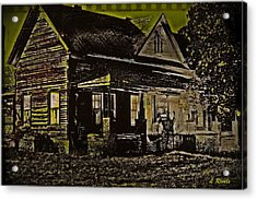 Photos In An Attic - Homestead Acrylic Print by Leslie Revels Andrews