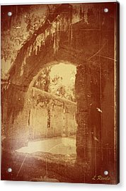 Photos In An Attic - The Ruins Acrylic Print by Leslie Revels Andrews