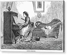 Pianist, 1876 Acrylic Print by Granger