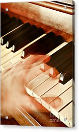 Piano Acrylic Print by HD Connelly