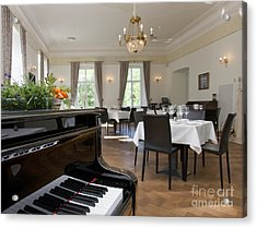 Piano In A Upscale Dining Room Acrylic Print by Jaak Nilson
