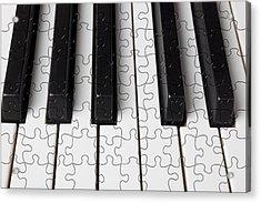 Piano Keys Jigsaw Acrylic Print by Garry Gay