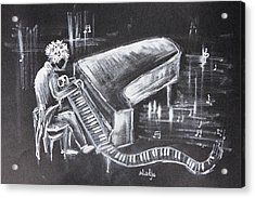 Piano Man Acrylic Print by Sladjana Lazarevic