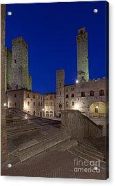 Piazza Duomo At Dusk Acrylic Print by Rob Tilley