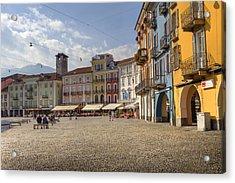 Piazza Grande - Locarno Acrylic Print by Joana Kruse