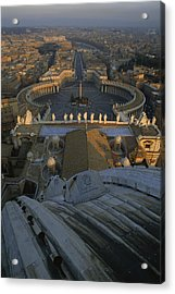 Piazza San Pietro As Seen From The Dome Acrylic Print by James L. Stanfield