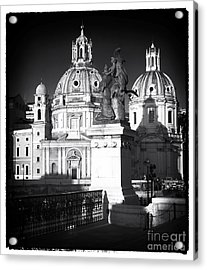 Piazza Shadows Acrylic Print by John Rizzuto