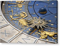 Piazza (square) San Marco, Clock Tower Detail Acrylic Print by Maremagnum