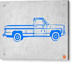 Pick Up Truck Acrylic Print by Naxart Studio