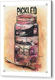 Pickled Acrylic Print by Nik Garvoille