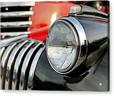 Pickup Chevrolet Headlight. Miami Acrylic Print