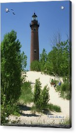 Acrylic Print featuring the photograph Picnic By The Lighthouse by Joan Bertucci