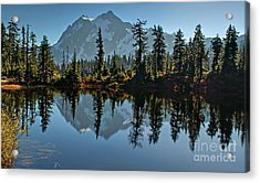 Picture Lake - Heather Meadows Landscape In Autumn Art Prints Acrylic Print by Valerie Garner