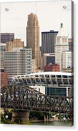Picture Of Cincinnati Downtown City Buildings Acrylic Print