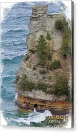 Acrylic Print featuring the photograph Pictured Rocks In Oil by Deniece Platt