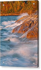 Pictured Rocks Lake Superior Acrylic Print by Dean Pennala